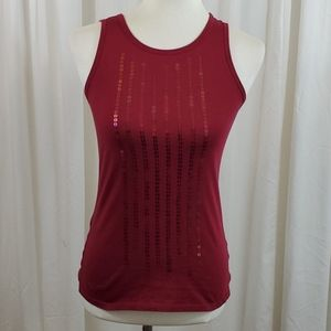 GAP Maroon Colored Sequined Tank Top